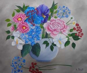 avec les fleurs du jardin