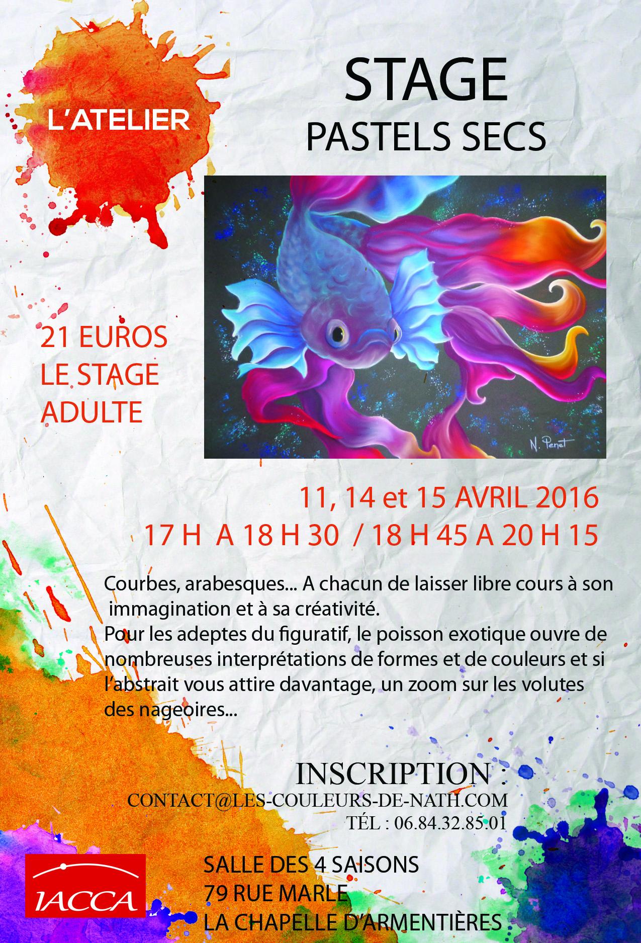 Stage pastels secs courbes et arabesques nathalie penet - Laisser libre cours a son imagination ...