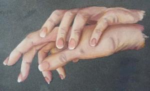 mains au pastel